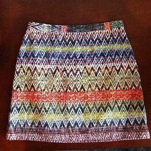 Topshop Tribal Ethnic Colorful Print Mini Skirt